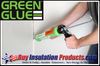 Green Glue Noiseproofing Acoustical Sealant is used to seal up joints and cracks in walls, ceilings and floors to prevent sound transmission through these air gaps.