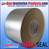 "Ideal Seal 777 Aluminum Embossed Cladding 4"" Wide Tape Rolls for sealing joints, seams, and covering pin heads/washers"