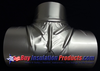 Aluminum Pressed Tee Cover for covering insulation at a tee joint for exterior metal insulation systems.