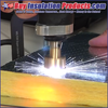 Midwest Sure Shot II Weld Gun shooting a mini cup pin into FRK Faced Fiberglass Duct Board Insulation