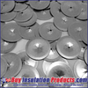 "1-1/2"" Diameter Round Self-Locking Washers in 12 ga diameter for perforated and self-stick insul hanger pins."