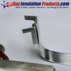 An Aluminum Seal Clip installed on Aluminum Banding to make a Fab-Strap