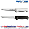 "Both Dexter Econo Knives - White Handle is 6"" Smooth Blade - Black Handle is 6"" Serrated Blade"