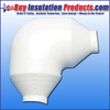 PVC Reducer 90° Elbow Fitting Cover insulates 90° fittings that reduce the size of the pipe through the fitting.