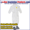 100% Polyolefin Water-Resistant Protective Coveralls
