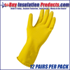 Yellow Latex Rubber Gloves (Dozen)