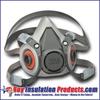 3M Half-Faced Respirator w/ Pair of P100 Filters