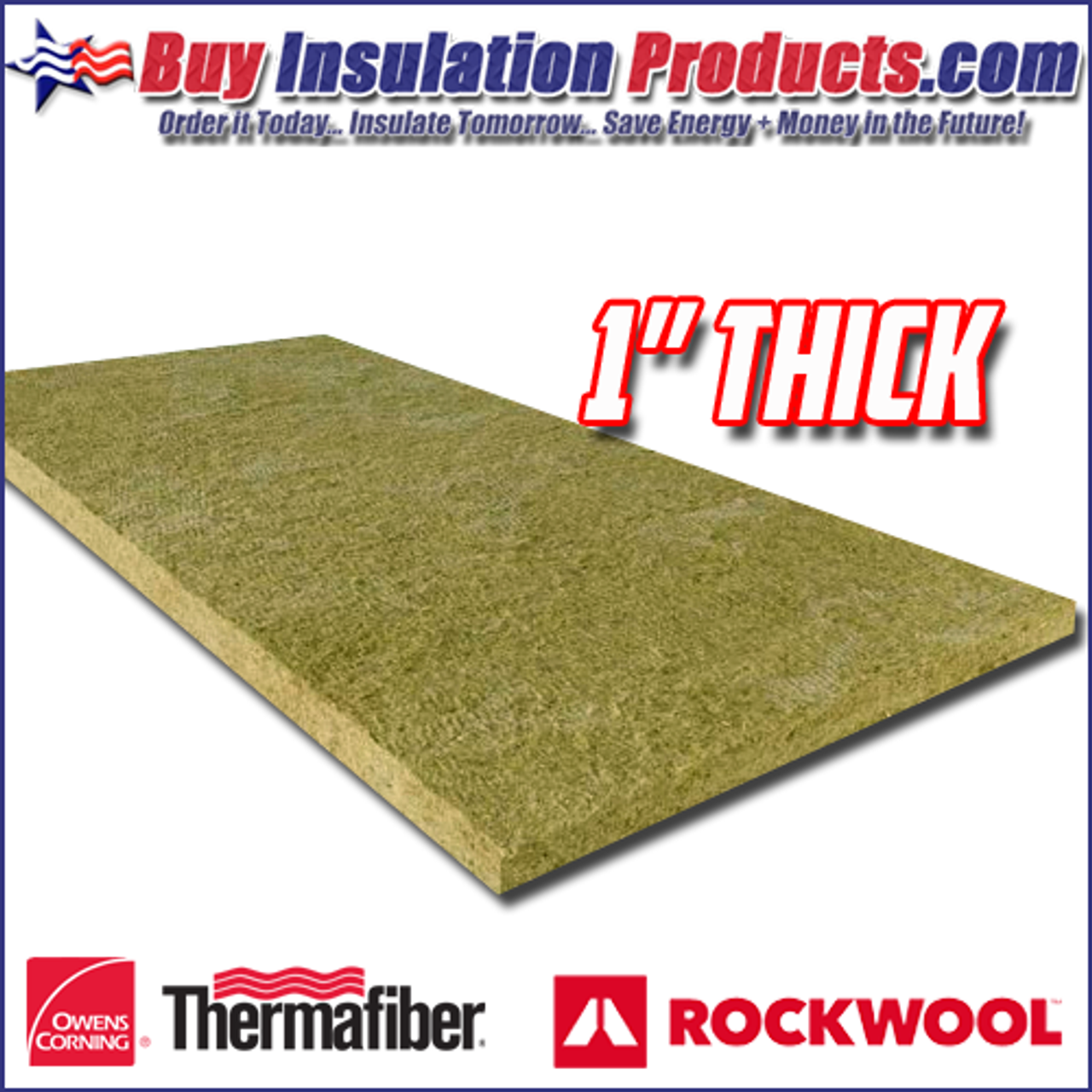 "Green Roxul 1/"" x 48/"" x 24/"" Mineral Wool High Temperature Insulation Density 8#"