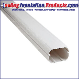 """Slimduct 3.75"""" x 6' Duct Line Set Cover White"""