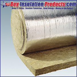 "Mineral Wool Sheet  48/"" x 24/"" x 2/""  Thick High Temperature Foil Back Insulation"