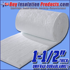 Unifrax Durablanket S Ceramic Fiber Blanket is both a thermal insulation and fire-rated material for high-temp applications.