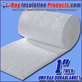 Unifrax Durablanket S Ceramic Fiber Blanket is a High Temperature Insulation used for ovens, kilns, generator mufflers and exhaust pipes.
