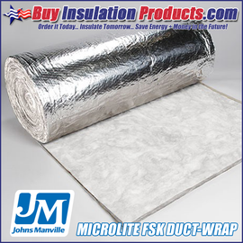 Fiberglass FSK Duct Wrap Insulation