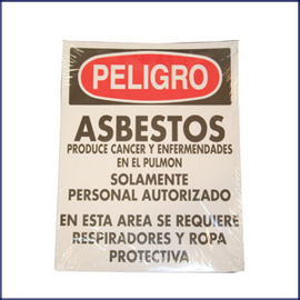 Danger Asbestos Signs (Spanish)