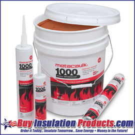 MetaCaulk 1000 Intumescent Firestopping Sealant (10.3 oz Tube)