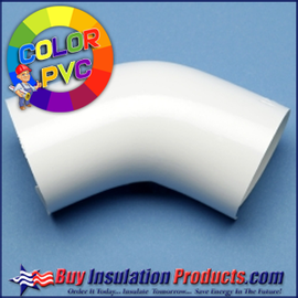 Color PVC 45° Degree Elbow Cover