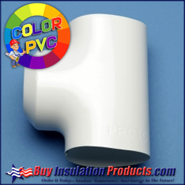 Color PVC Tee Covers in 13 different High Gloss Colors.