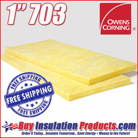 "Owens Corning 1"" 703 Fiberglass Acoustical Board with Free Shipping!"