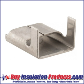 "Aluminum Seal Clips for 1/2"" wide banding allow you to make fab-straps for your metal jacketing and elbow fitting cover applications."