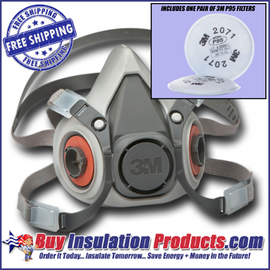 3M Half-Faced Respirator w/ Pair of P95 Filters
