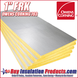 "Owens Corning 703 FRK Fiberglass Acoustic Board 1"" (FRK FACED)"
