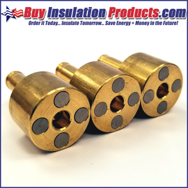 Brass Magnetic Collets (3 Pack)