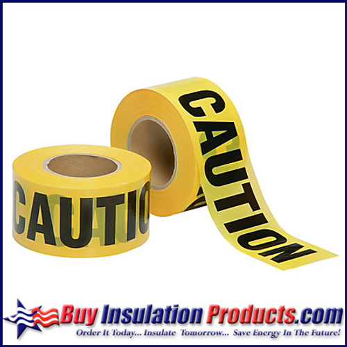 Yellow Caution Barrier Tape