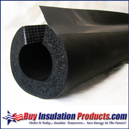 """Rubber Pipe Insulation Split with DoubleSeal (1/2"""" Thick)"""