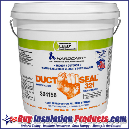 Hardcast Duct Seal 321 Fiber Reinforced Duct Sealant in 1 Gallon Pail