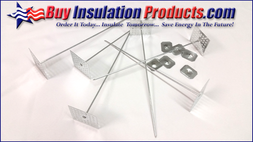 """6-1/2"""" Perforated Insul Hangers w/Washers"""