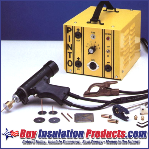 Pinto CD Welding Machine for fastening duct insulation with mini cup weld pins