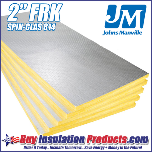 "Johns Manville 814 FRK Fiberglass Acoustic Board 2"" (FRK FACED)"