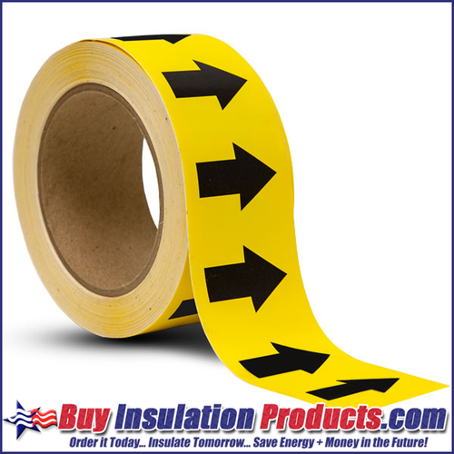 Yellow/Black Arrow Roll for Pipe ID Labels