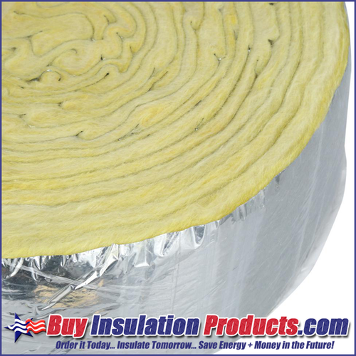 "Foil Faced Fiberglass Pipe Wrap (1"" Thick)"