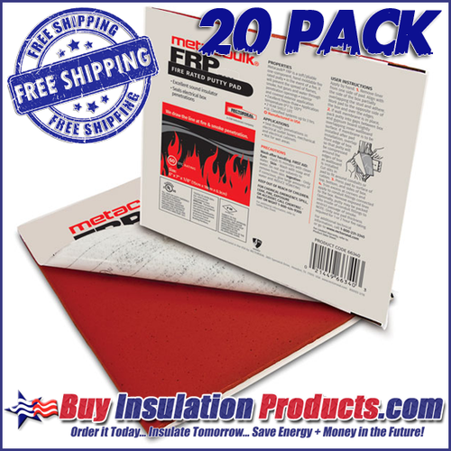 Metacaulk STC Sound & Fire Rated Putty Pads with Free Shipping!