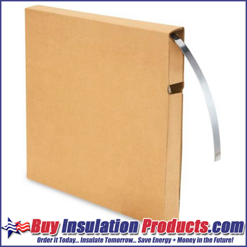 """1/2"""" wide Aluminum Banding for making fab-straps to fasten metal jacketing and elbow fitting covers."""