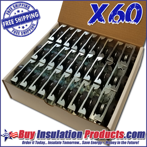 MF- Resilient Isolation Clips (Case of 60)