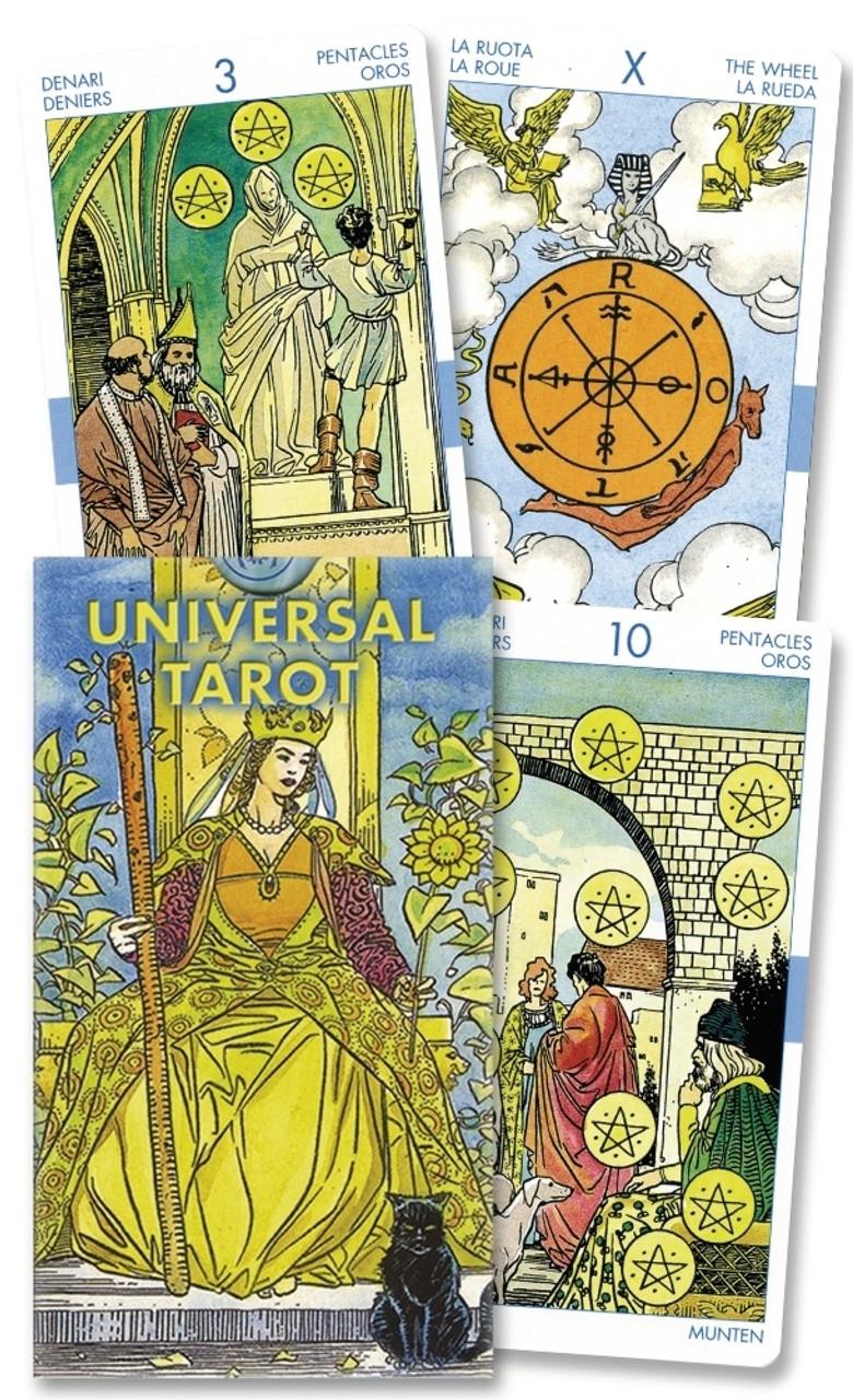 Universal Tarot Lo Scarabeo All Formats Including Professional Golden Transparent Kit The Tarot Garden