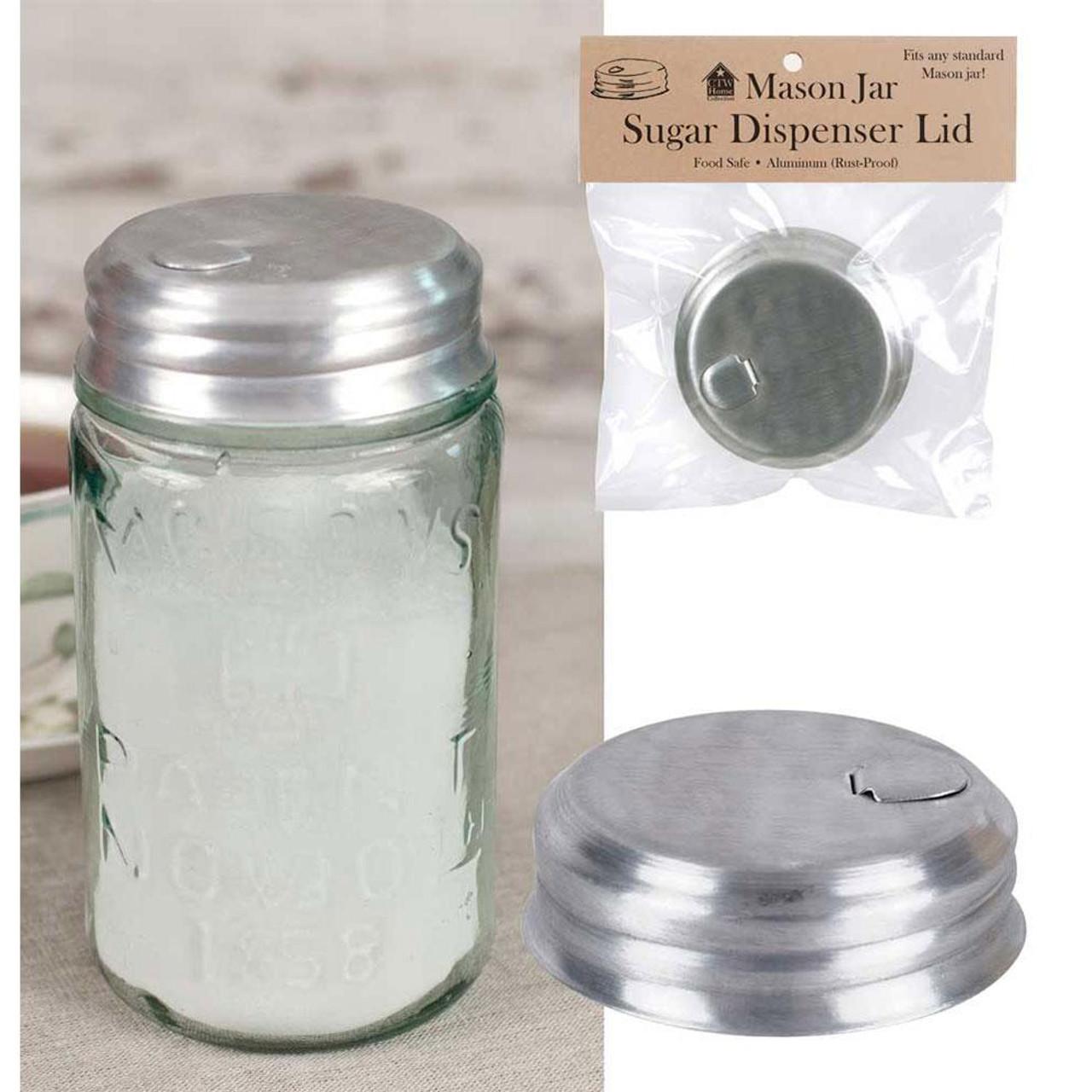 Mason Jar Lid Sugar Dispenser Aluminum