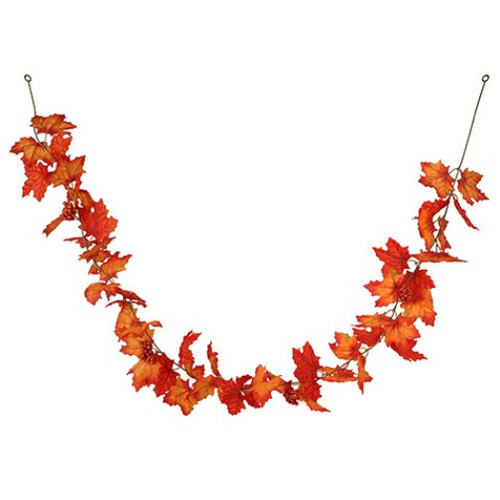 Garland 6' Maple Leaf With Berries