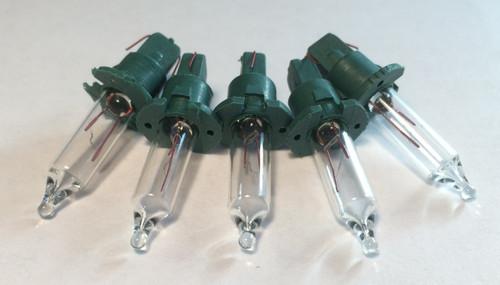 Clear 2.5V Mini Bulbs 5 count - Crimped Base for Twist Proof Sets (GKI)
