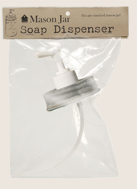 Mason Jar, Soap Dispenser Top - Barn Tin