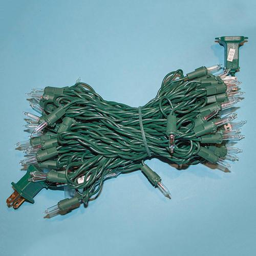 50 Clear, Green Cord -6 inch Spacing #22 Gauge