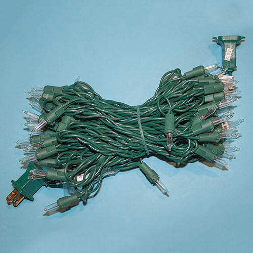 50 Clear, Green Cord -6 inch Spacing #22 Gauge