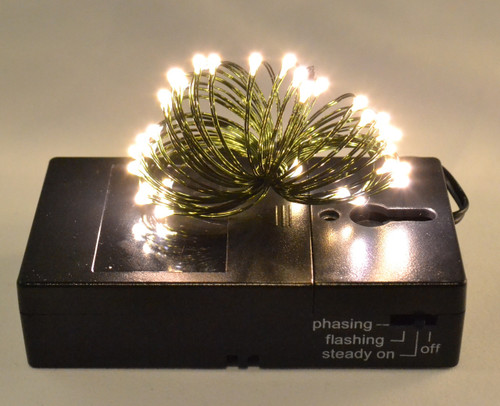 36 Battery Fairy Lights, LED Warm White- Green Wire