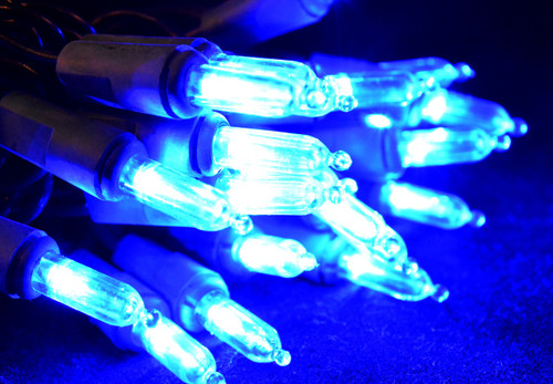 50 LED Blue, Green Cord