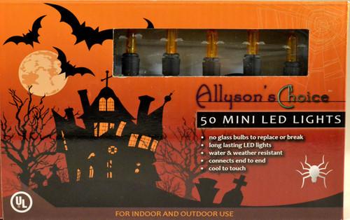 50 LED Orange, Black Cord