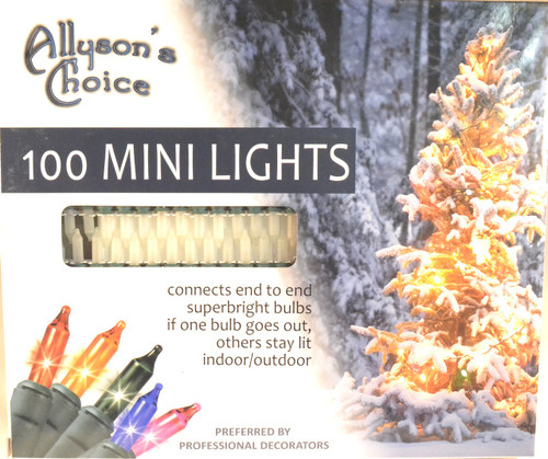 100 Frost Lights, Green Cord