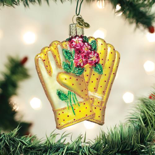 Old World Gardening Gloves Ornament