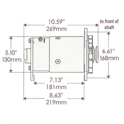 Delco Long Case Alternator Adaptor Bracket - BKTDLC